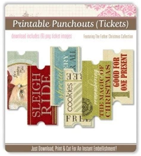 printable christmas tickets old fashioned christmas tickets download print cut