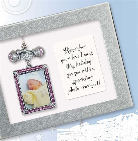 inspirational christmas gift message plaques mini photo orn my 1st baby