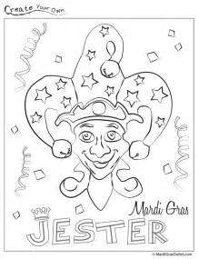 mardi gras jester coloring page get coloring pages