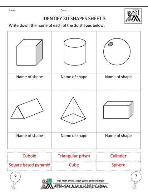8 Shapes I by Kindergarten 3 Dimensional Shapes Shapes Worksheets