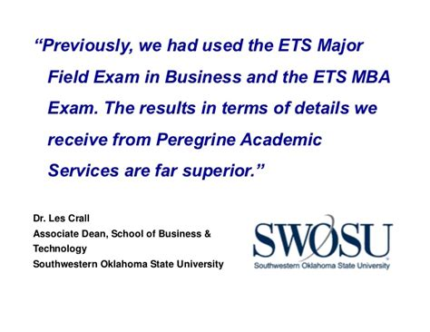 Ets Mba Test Scores by 2012 Acbsp Region 4 Conference Presentation 4 Sponsor