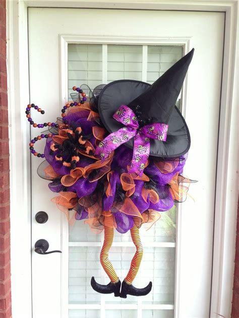 deco mesh wreath witch wreaths pinterest