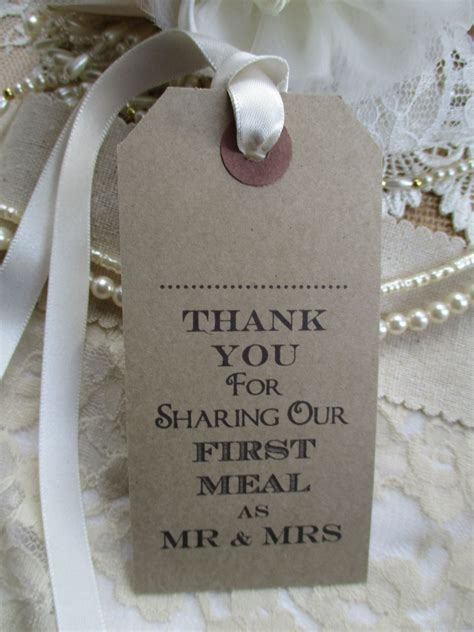 10 Wedding Name Place Tags Table Place Setting Napkin Tie