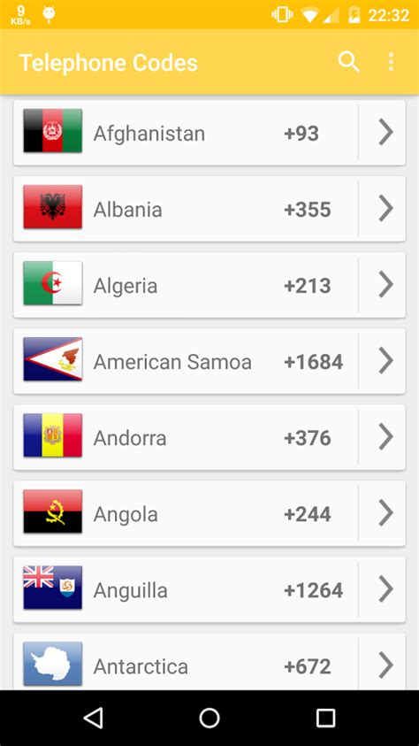 country code telephone phone codes of the world android apps on play