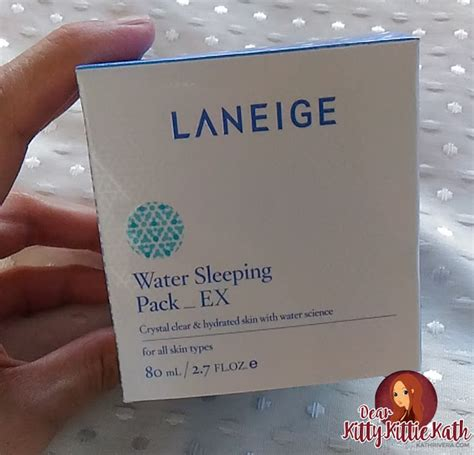 Laneige Water Sleeping Pack Ex product review laneige water sleeping pack ex dear kittie kath top lifestyle