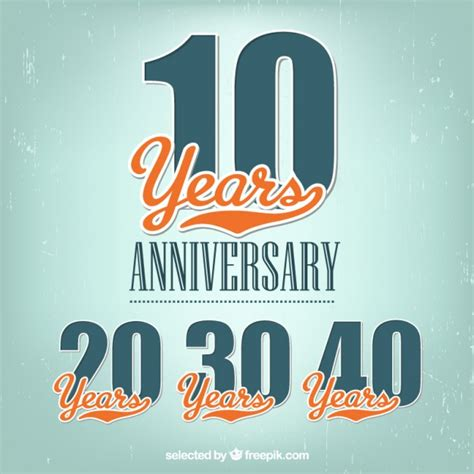 anniversary labels vector free download