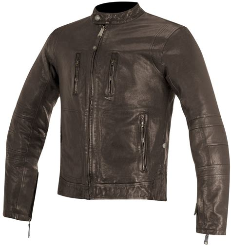 armored leather motorcycle jacket 579 95 alpinestars mens oscar collection brass armored