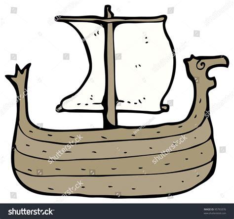 viking boats cartoon cartoon viking boat stock photo 95793376 shutterstock