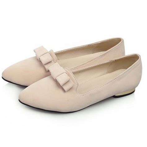 Flat Shoes Oe 17 aliexpress buy autumn slip on bowtie flat shoes closed toe pointed toe