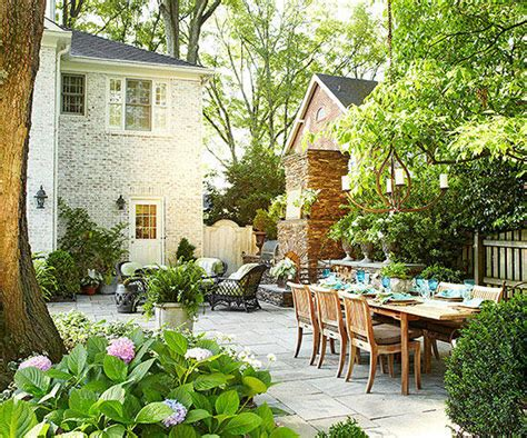 small yard living and landscaping outdoor living room better homes gardens