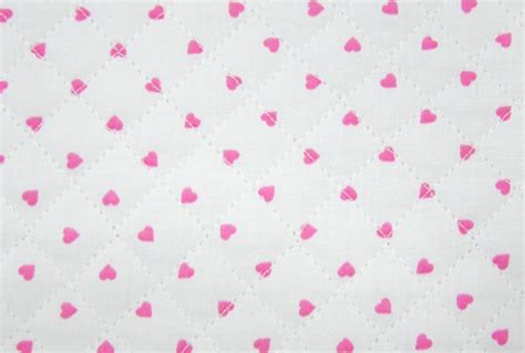 Pre Quilted Cotton Fabric by Pink Hearts Ready Quilted Fabric Cotton Pre Quilted Padded