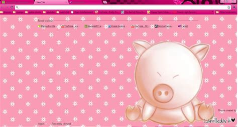 google chrome themes cute pink cute pig theme 4 google chrome by kyoyaanime on deviantart
