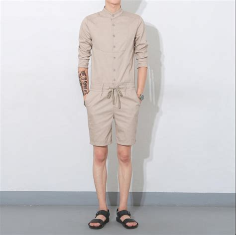 Casual Overall Set 2016 summer jumpsuit casual three quarter sleeve