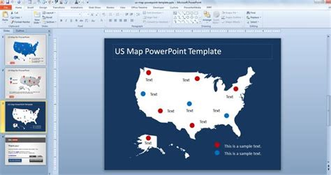 Free Us Map Shape For Powerpoint Presentations Free Powerpoint Templates Slidehunter Com Us Map Powerpoint Template Free