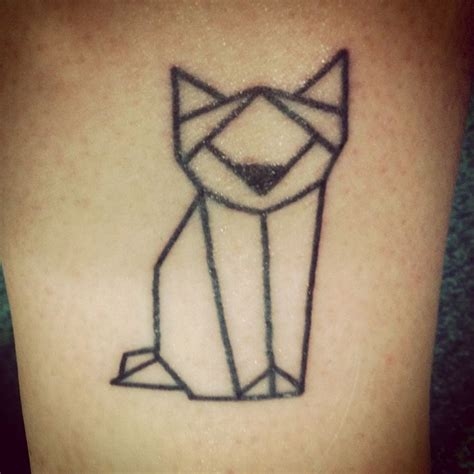 simple geometric cat wolf dog fox wear tattoos pinterest