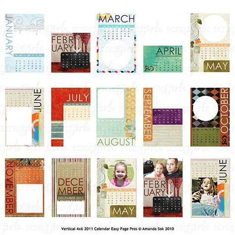 scrapbook calendar template digital scrapbook calendar kits enjoy a personalized calender