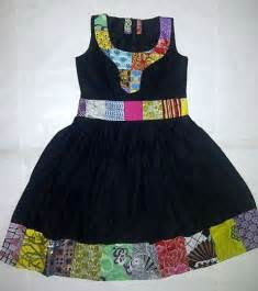 3 ankara dress made with plain and patterned patch