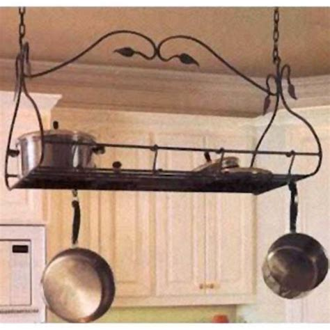 Kitchen Hanging Rack Gourmet Antique Copper Pot Rack County Ironworks