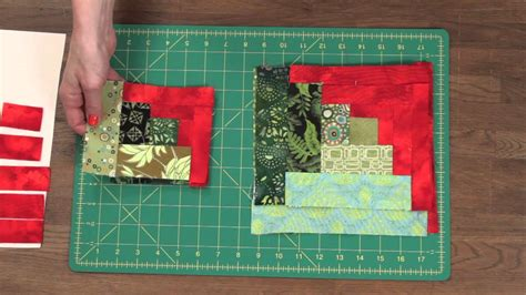 How To Make A Log Cabin Quilt Block by Quilty How To Make A Curved Log Cabin Quilt Block