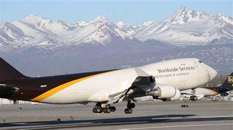 ups air cargo 747s landing in anchorage panc anc