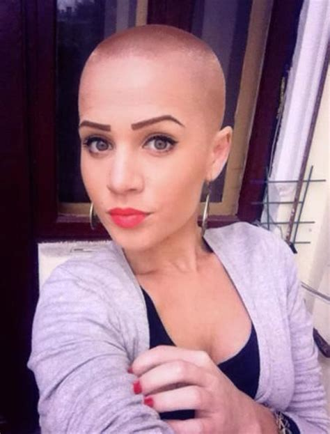ladies bald haircut video ladies ultra short haircuts baldheaded women pinterest