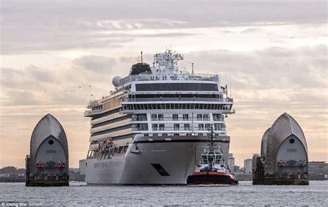 royal london morning tour thames river cruise viking star cruise ship sails up thames on maiden voyage