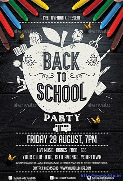 60 Best Back To School Flyer Print Template 2018 Frip In Back To School Bash Flyer Template Free