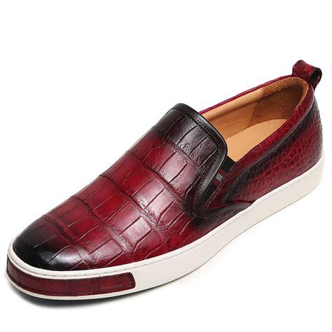 Crocodile Freed Casual Slip On mens casual slip on fashion alligator sneakers