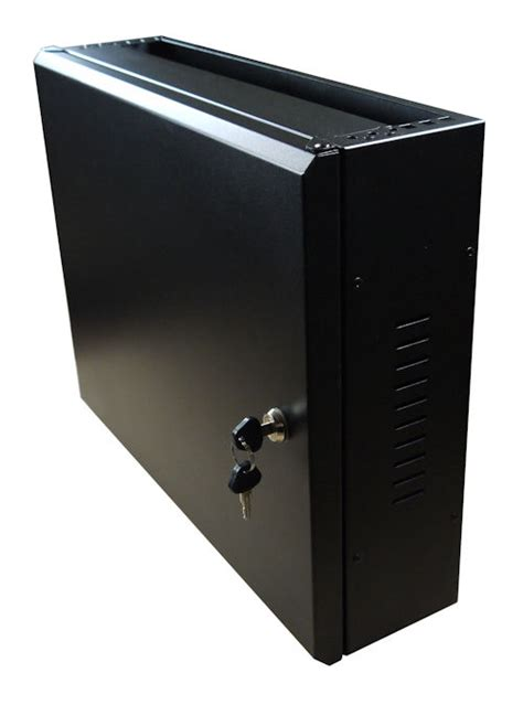 horizontal wall mounted cabinet 2u to 4u slimline low profile horizontal vertical mount