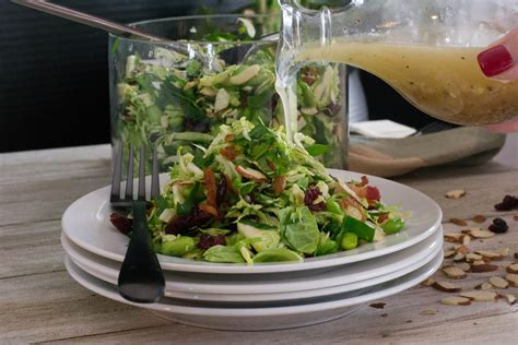 Spinach Detox Salad by Detox Brussels Sprouts Spinach Salad What The Forks For