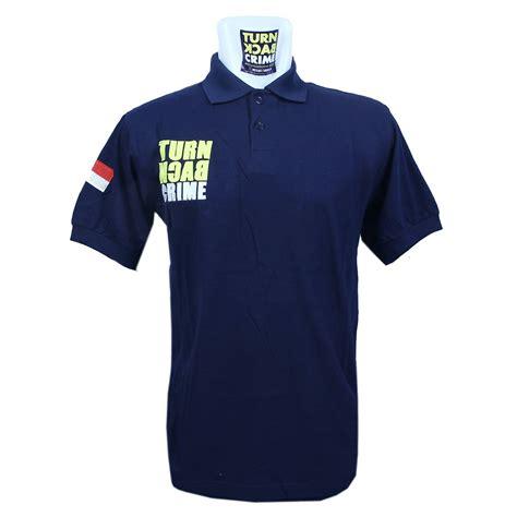 Polo Turn Back Crime Blue Navy jual baju turn back crime polos lj shop