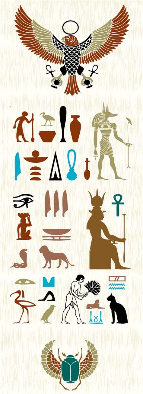 imagenes simbolos egipcios s 237 mbolos egipcios vectorizados interlinkeo