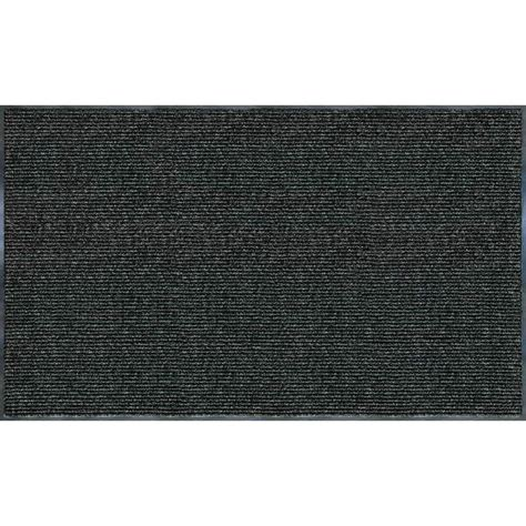 ribbed door mat charcoal 60 in x 36 in floor doormat entrance outdoor home ebay