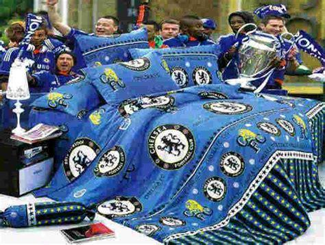 Sprei Lembut Exclusive Chelsea Club sprei bola murah katun panca