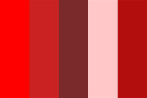shaeds of red shades of red 1234567 color palette