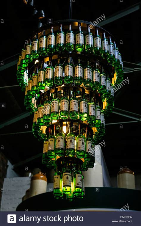Jameson Irish Whiskey Bottle Chandelier Stock Photo Liquor Bottle Chandelier