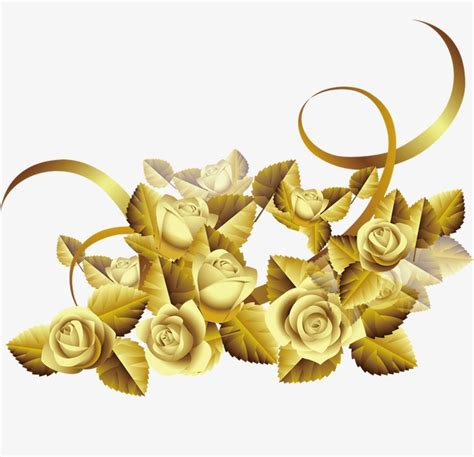 Design Black And White by Flowers Flowers Gold Roses Creative Taobao Flowers