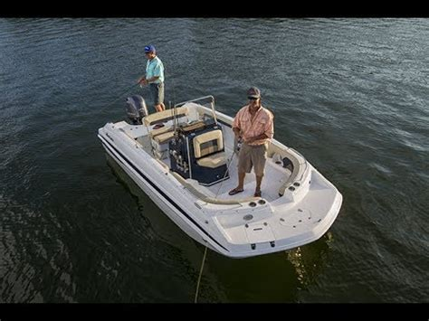 deck boats youtube hurricane deck boats cc 19 center console deck boat