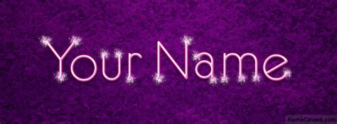 Your Name Or Text sparkle text name cover timeline cover
