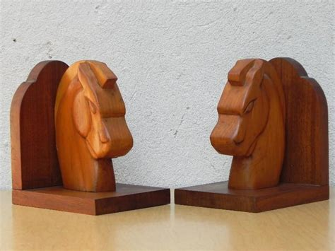 Handmade Wooden Bookends - deco handmade wooden bookends i like mikes
