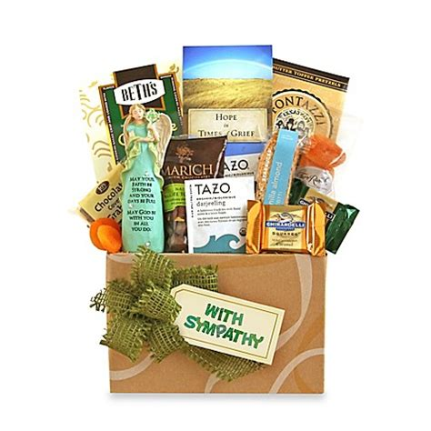 bed bath and beyond gift baskets thoughts and prayers gift basket bed bath beyond