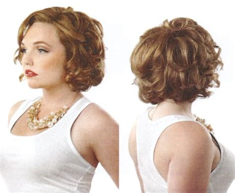curly chin length cut curly wedge hairstyle cropped curled jaw length bob