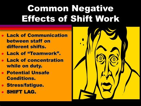 working swing shift effects ppt dealing with shift work and fatigue powerpoint