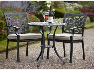 solar outdoor tree lights celtic cast aluminium garden bistro set in riven colour