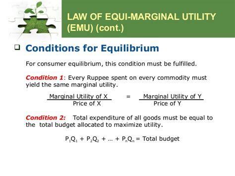 law of equi marginal utility utility theory