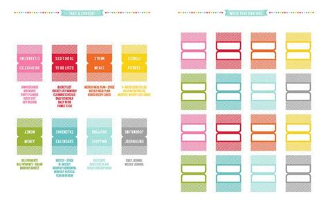printable planner tabs 2014 planner tabs printable pdf planner pages instant