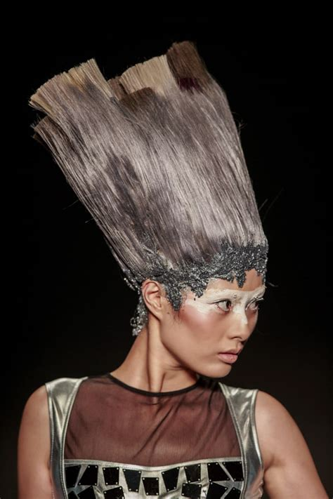 hairstyle artist hairstyle as an art during the mercedes benz china fashion