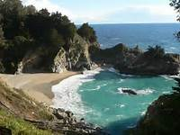 Beautiful Big Sur Waterfalls Natural  Tattoo Design