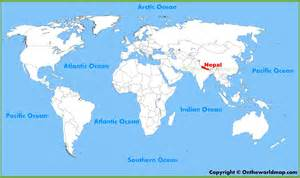 Location Of Nepal In World Map nepal location on the world map