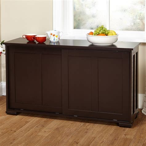 Kitchen Buffet Storage Cabinet Modern Storage Cabinet Espresso Sideboard Buffet Cupboard Pantry Kitchen Dining Ebay